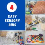 4 easy sensory bins