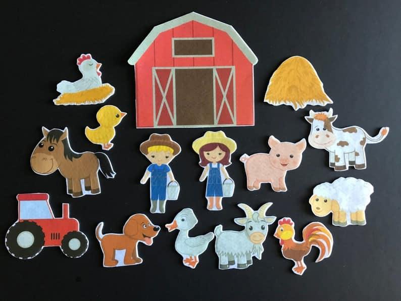 Felt farm set