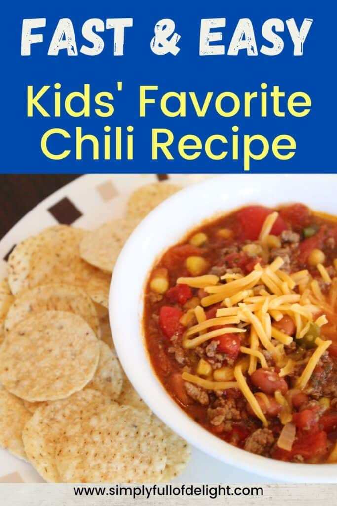 Kids' Favorite Chili Recipe - Make a delicious bowl of chili today for your family!