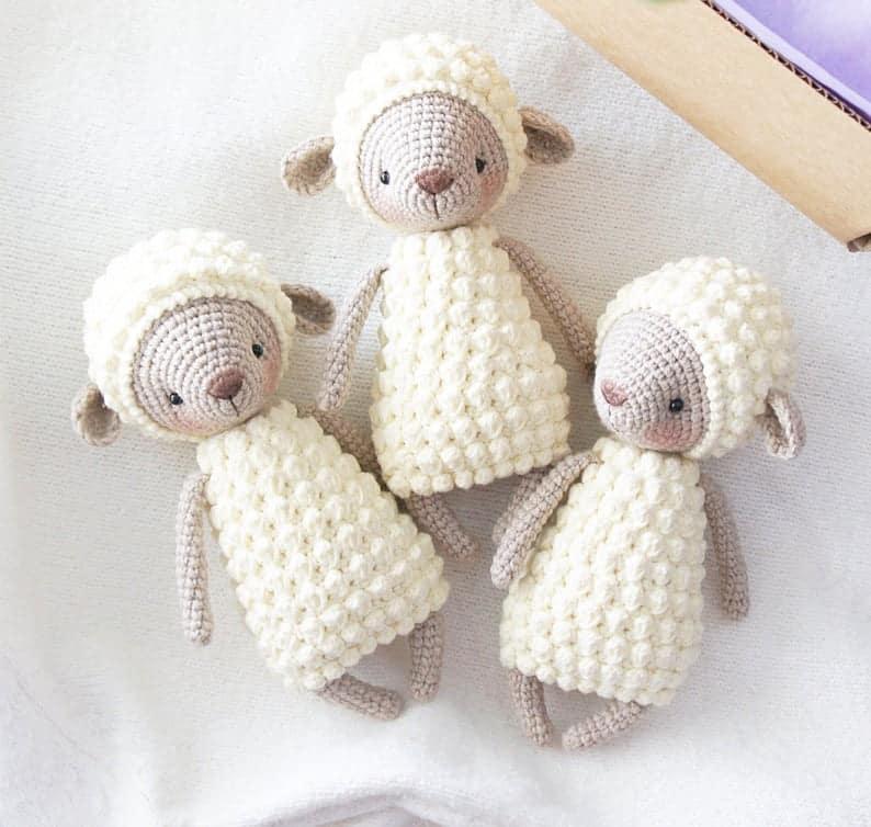 handmade crochet sheep