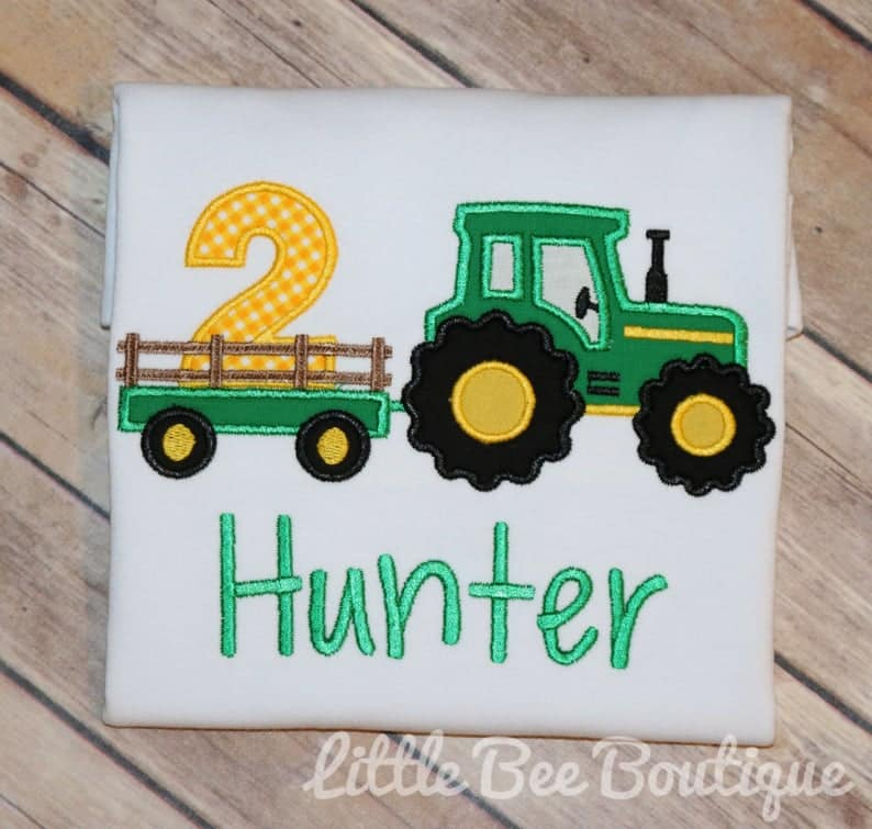 Little Bee Boutique Tractor shirt