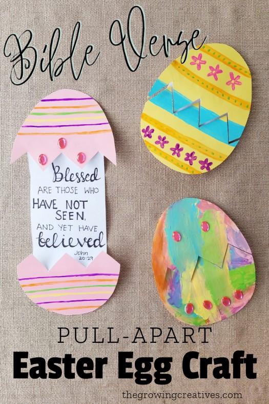Bible Verse Easter Egg Craft | thegrowingcreatives.com