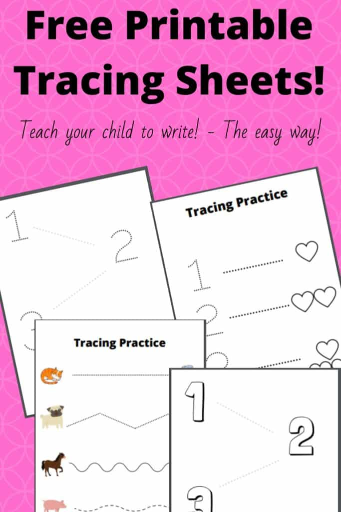 Free Printable Tracing Sheets - Teaching your child to write!