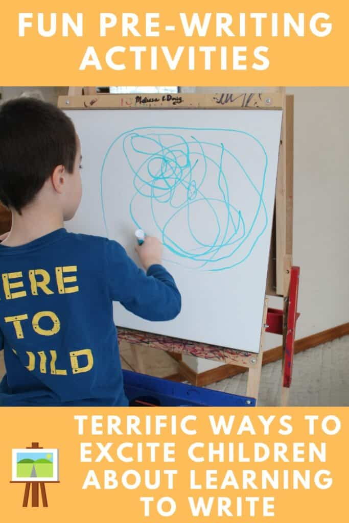 Fun Pre-Writing Skill Activities - Terrific Ways to Excite Children about Learning to Write!  #prewriting #learntowrite #howtoteachchildtowrite