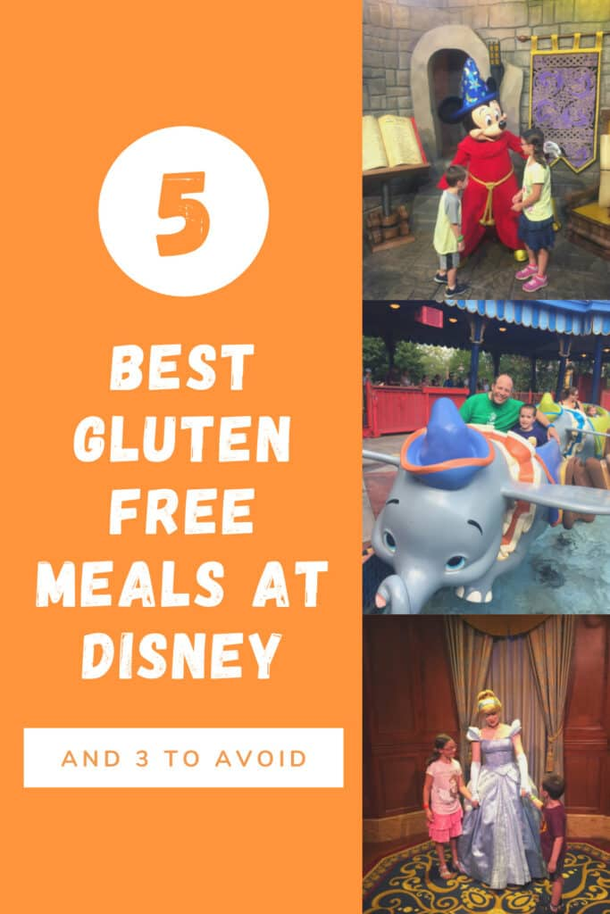 5 Best Gluten Free Meals at Disney (And 3 to Avoid!)  When you are eating gluten free there is no such thing as too much advance planning!  #glutenfree #disney #disneyworld #glutenfreediet