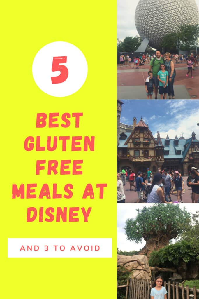 5 Best Gluten Free Meals at Disney (And 3 places to Avoid)!  Disney is a haven for gluten free eaters as long as you know where to look!  #glutenfree #disney  #disneyworld #glutenfreediet