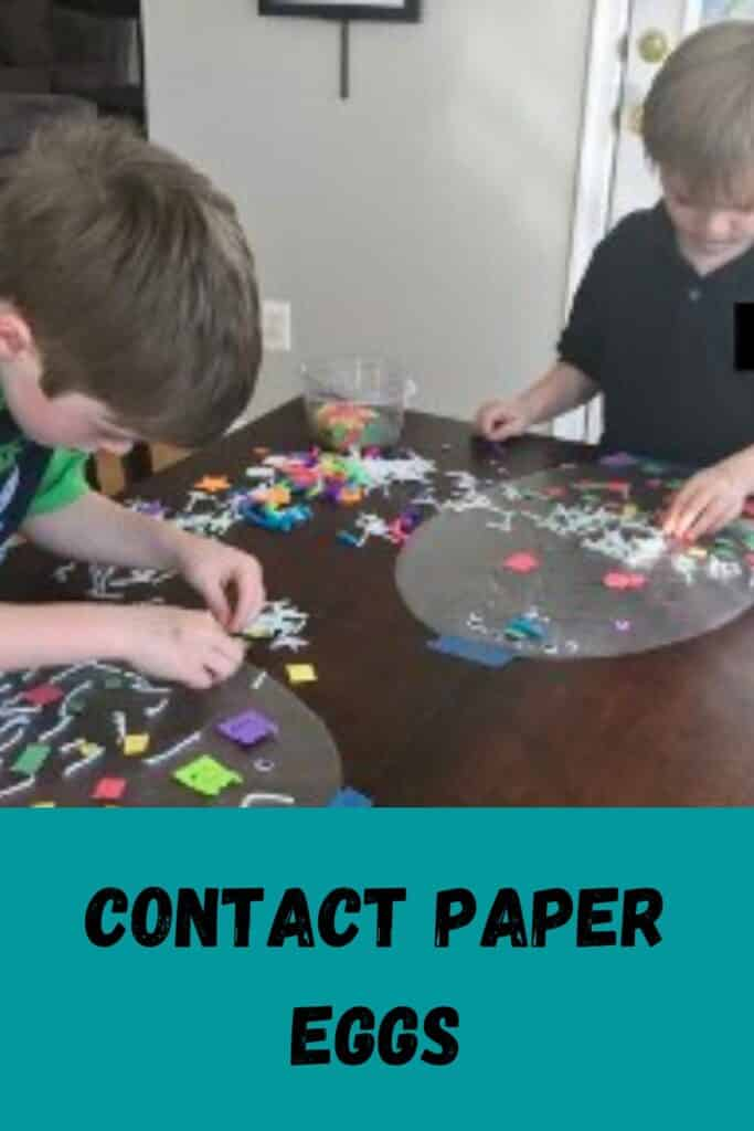 Contact paper Easter eggs