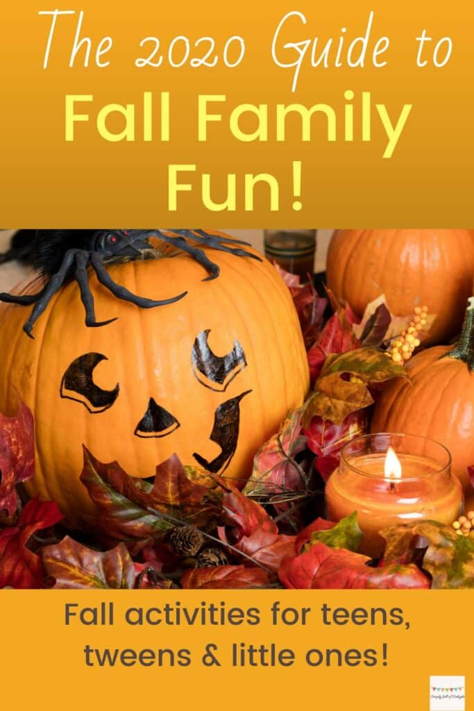 The 2020 Guide to Fall Family Fun!  Fall Activities for teens, tweens, and preschool age.