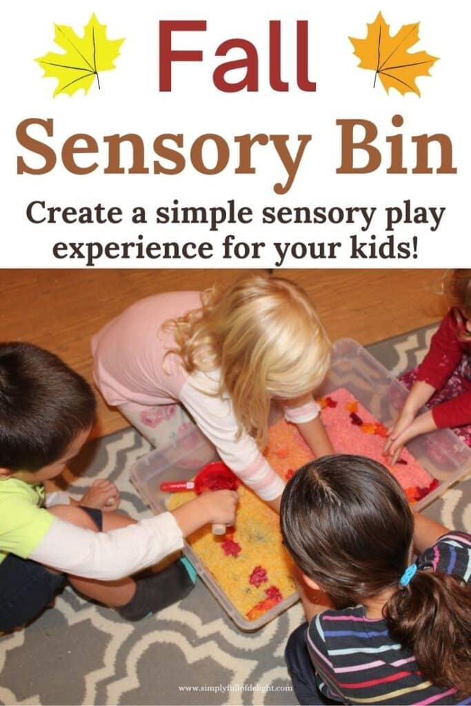 Fall Sensory Bin - Create a simple sensory play experience for your kids!
