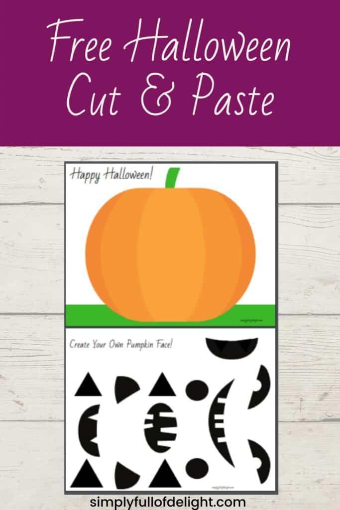 Free Halloween Cut and Paste, scissor skills practice