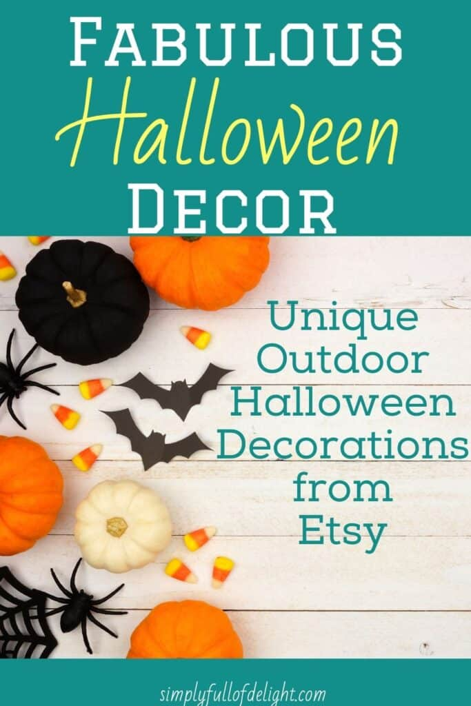 Unique Outdoor Halloween Decorations from Etsy