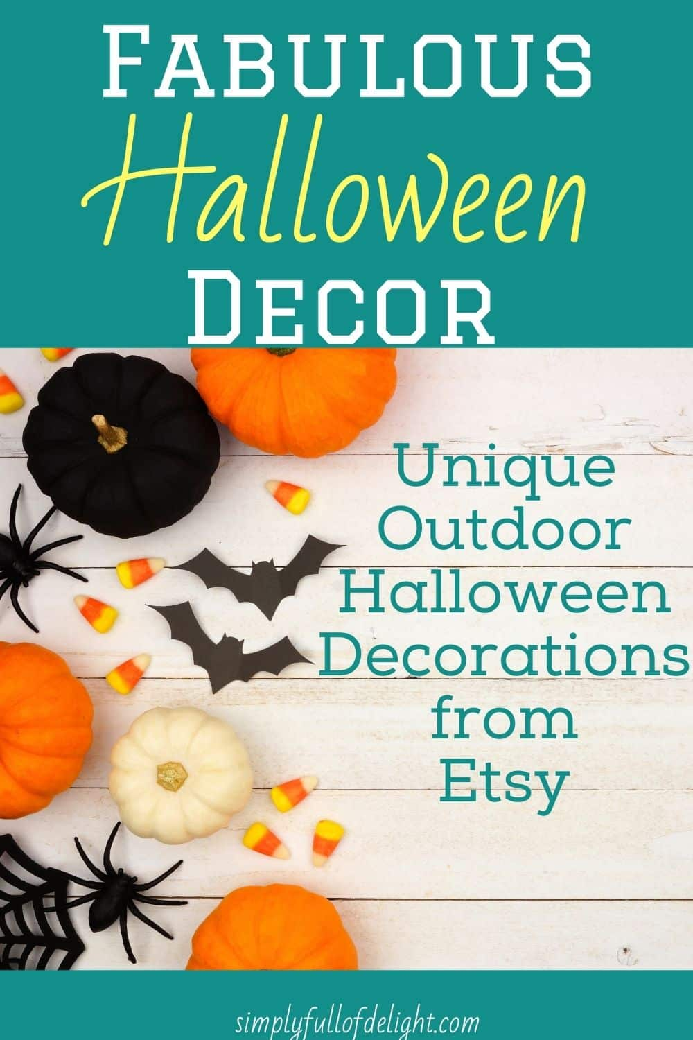 Image of: Unique Outdoor Halloween Decorations From Etsy Simply Full Of Delight