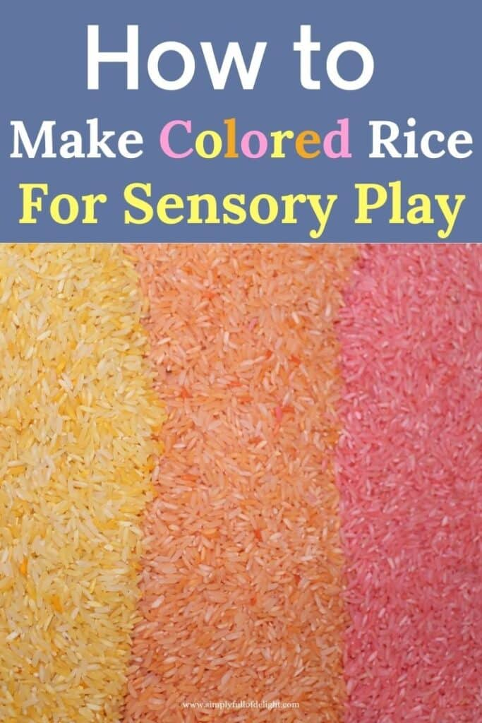How to make Colored Rice for Sensory Bins