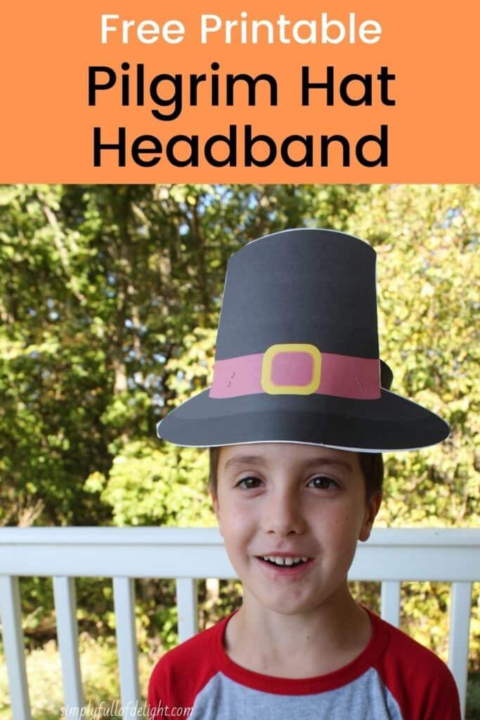 Free Printable Pilgrim Hat Headband