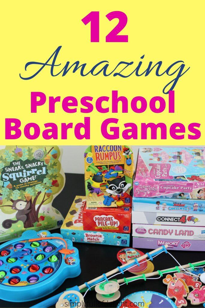 12 Amazing Preschool Board Games #prek #boardgames