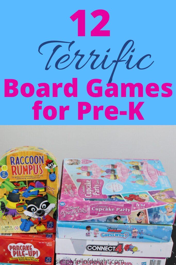 12 Terrific Board Games for Pre-K