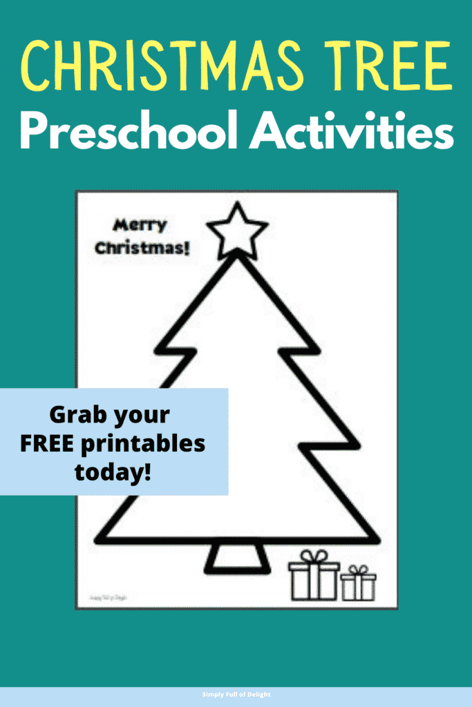 Christmas tree preschool activities - Grab your free printables today!