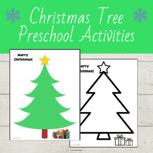 christmas tree preschool activities