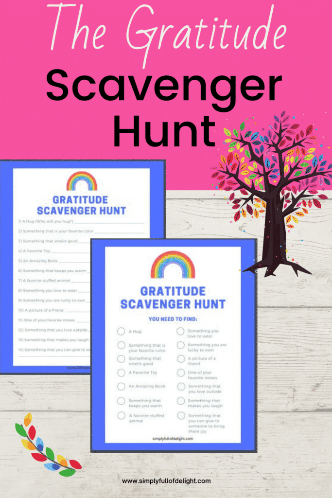 The Gratitude Scavenger Hunt - Teach thankfulness in a fun way with these free printable scavenger hunts