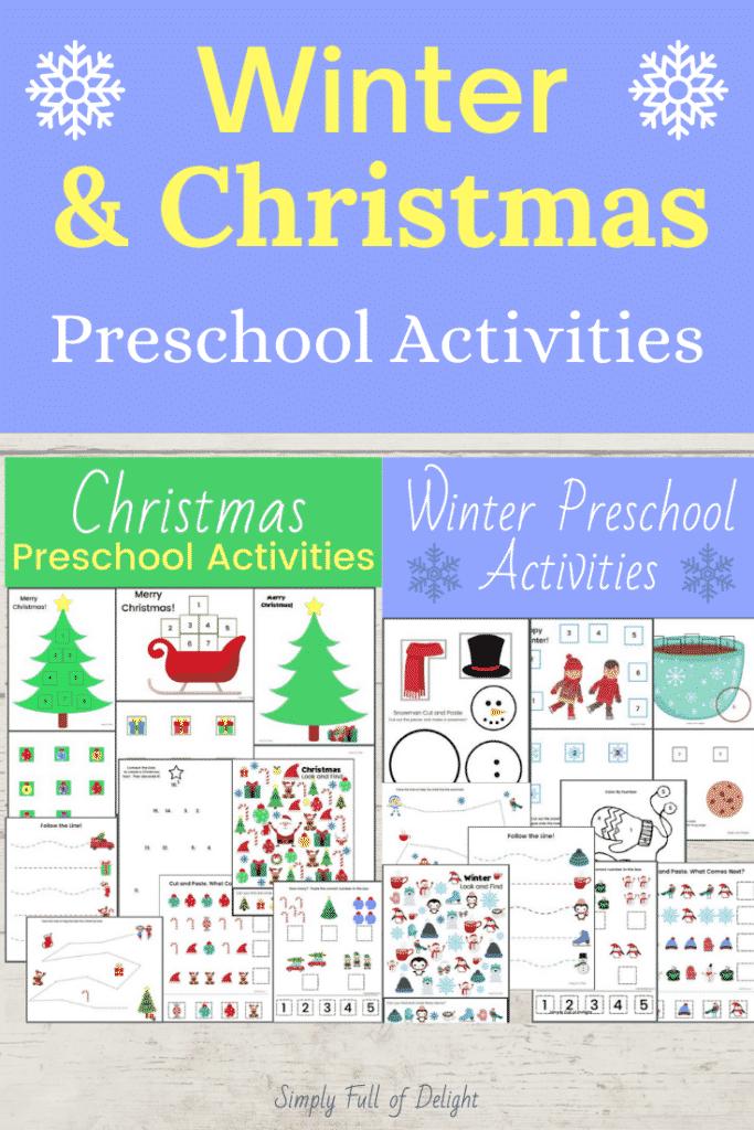 Winter & Christmas Preschool Activities