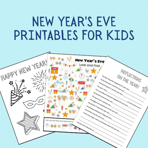 New Year's Eve printables for kids