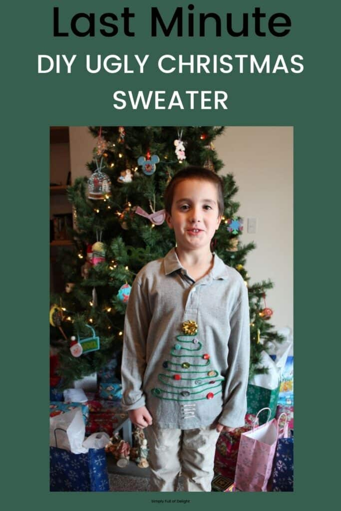 Last Minute Do It Yourself Ugly Christmas Sweater