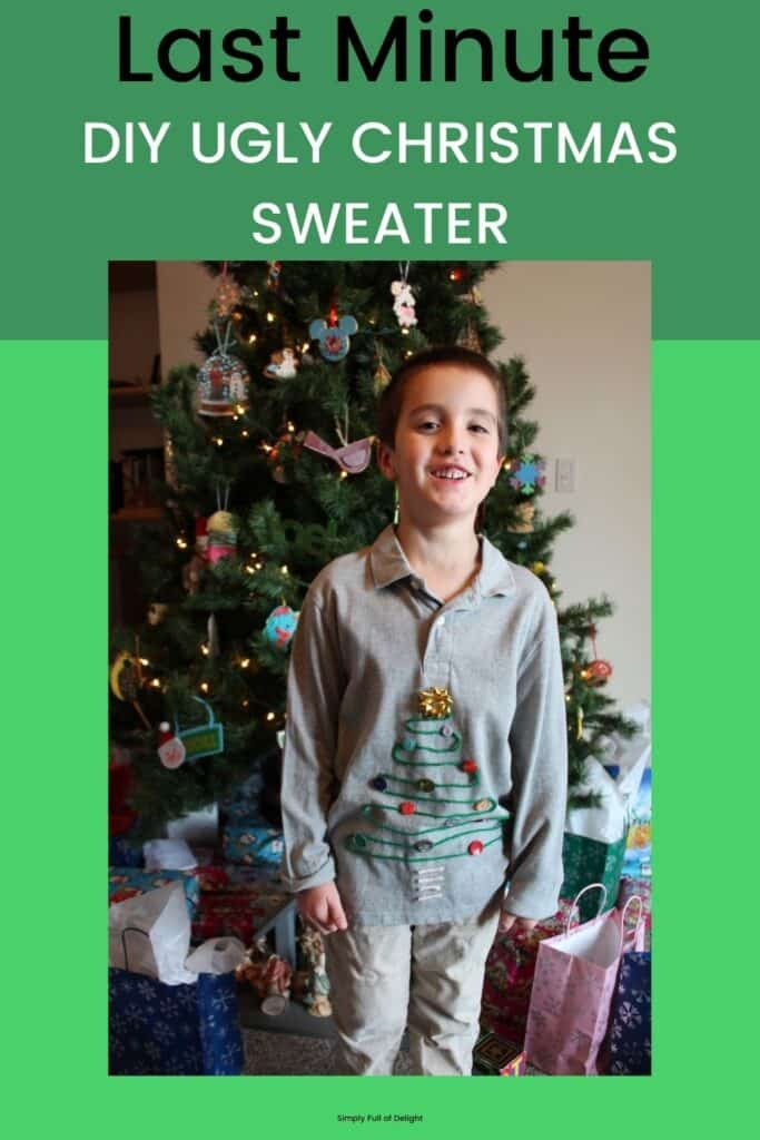 Last Minute DIY Ugly Christmas Sweater