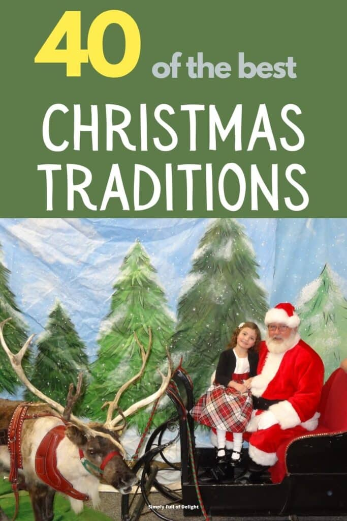 40 of the Best Christmas Traditions, #21 see Santa