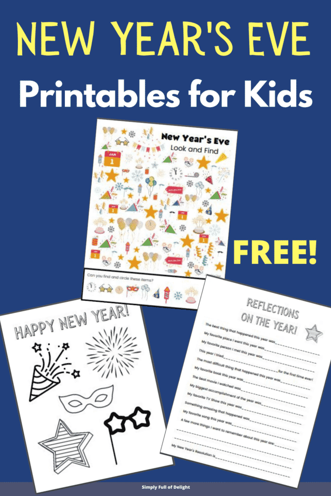 New Year's Eve Printables for Kids - FREE!