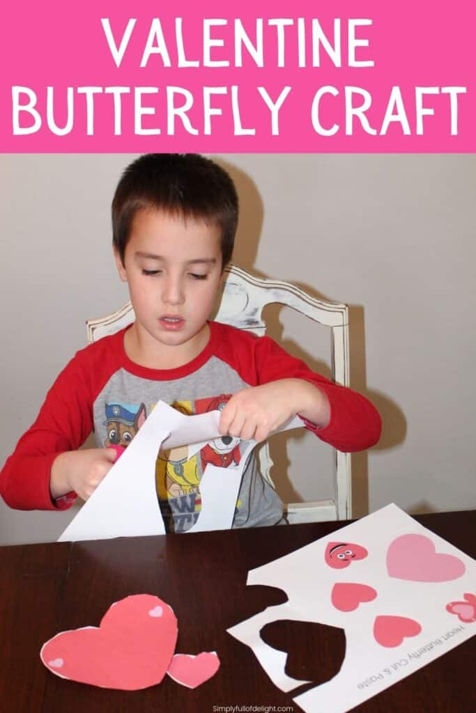 Valentine Butterfly Craft