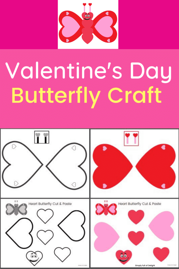 Butterfly Craft for Valentine's Day