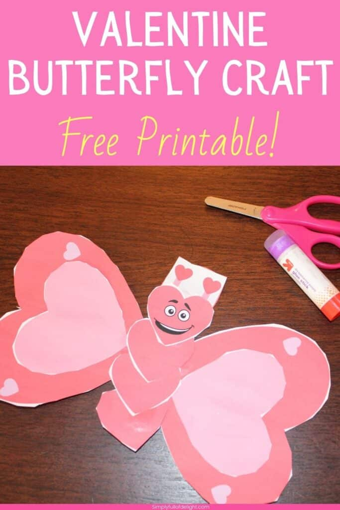 Valentine's Day Butterfly -  Craft Free Printable!