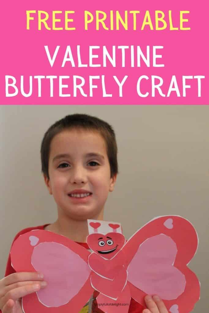 Free Printable Valentine Butterfly Craft