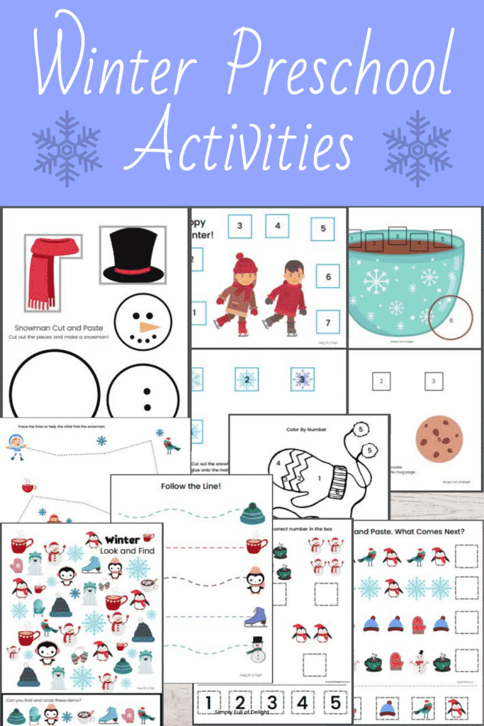 Etsy shop preschool printables
