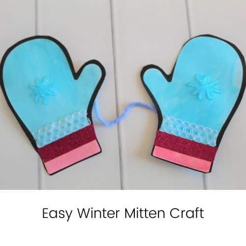 Easy Winter Mittens craft