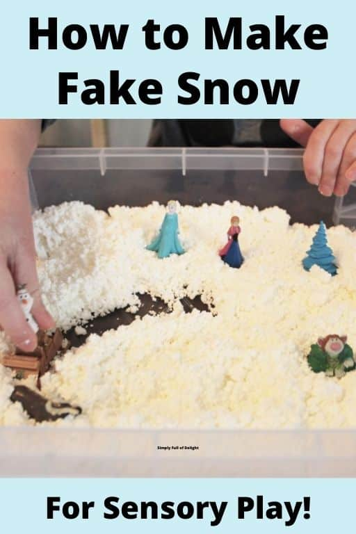 How to make fake snow for sensory play
