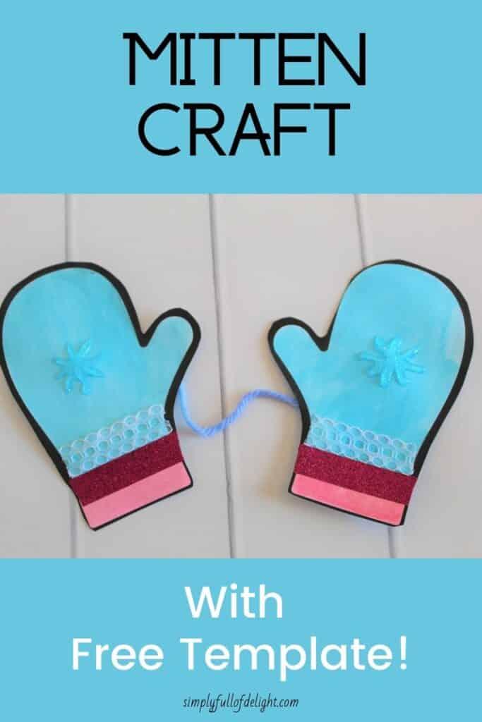 Mitten Craft with Free Mitten Template