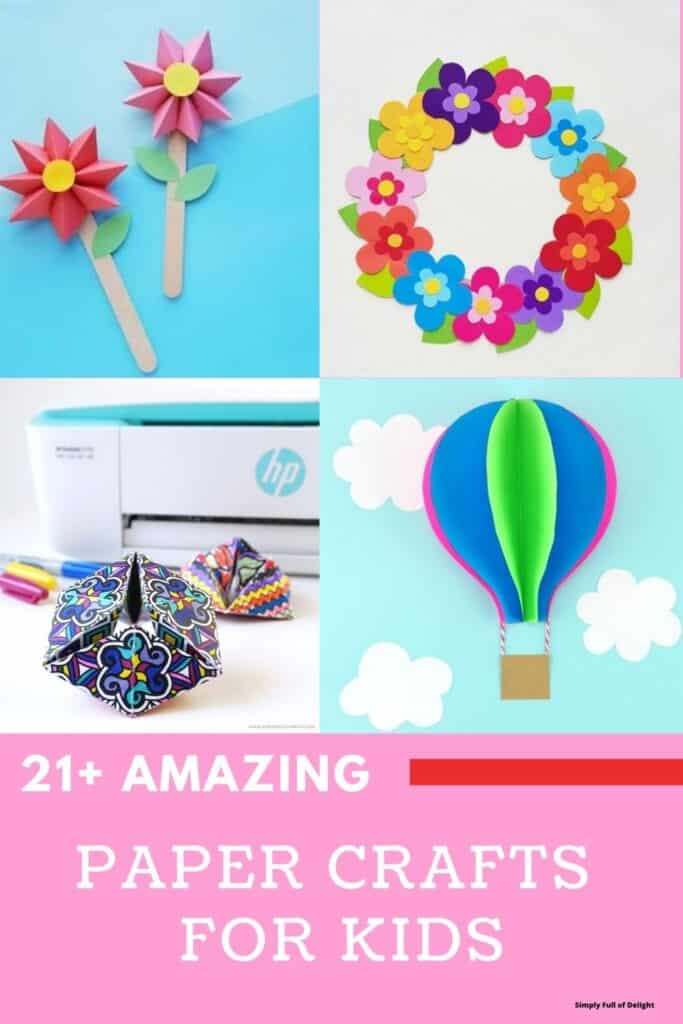 21+ Amazing Paper Crafts for Kids - Discover fun crafts that your kids will love!