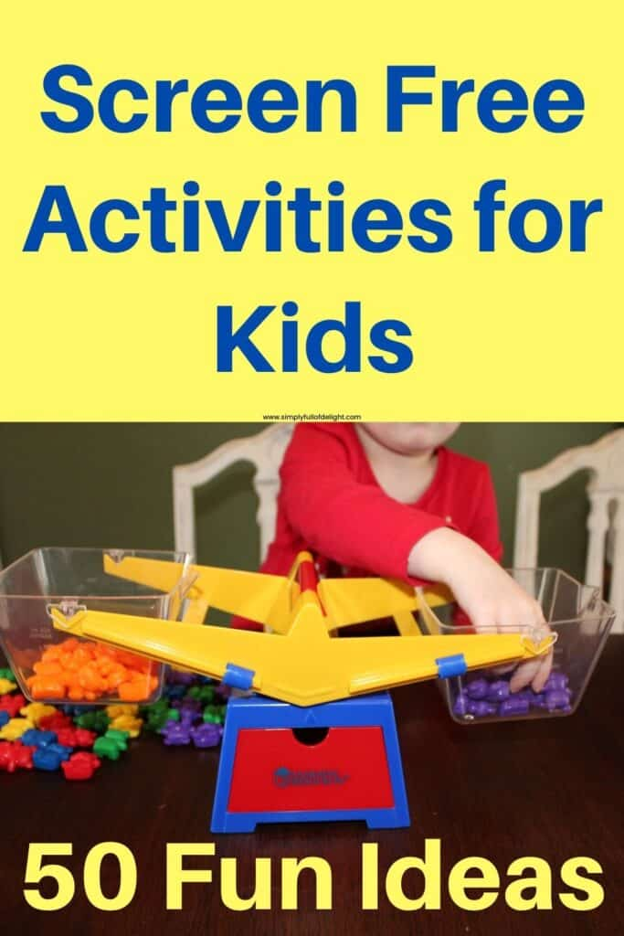 Screen free activities for kids - 50 Fun ideas  (balance pictured)
