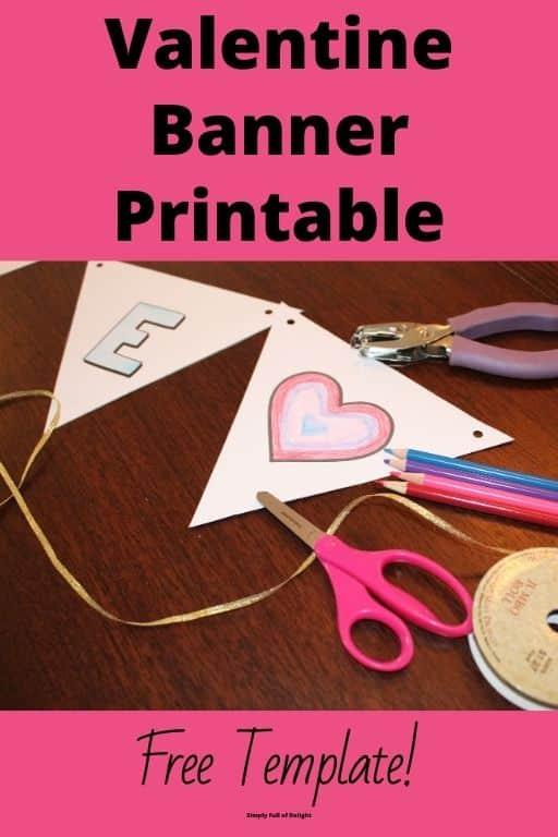 Valentine Banner Printable - supplies