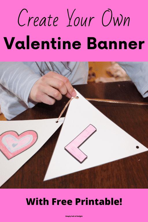 Create Your Own Valentine Banner