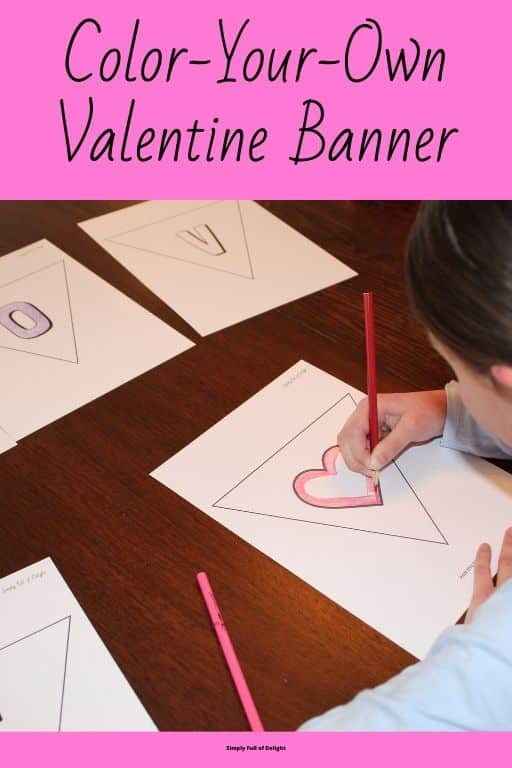 Color your own valentine banner