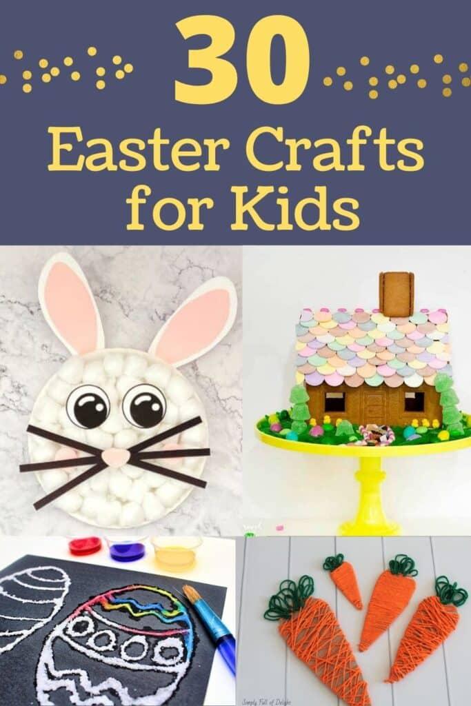 30 DIY Easter Crafts for Kids - Find amazing Easter arts and crafts ideas for kids!  #funforkids #eastercraft