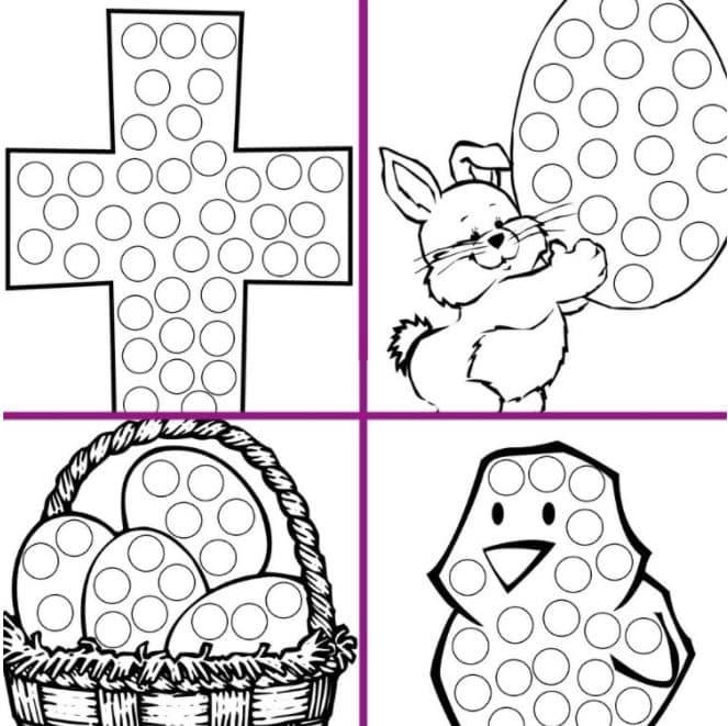 Easter dot marker printables
