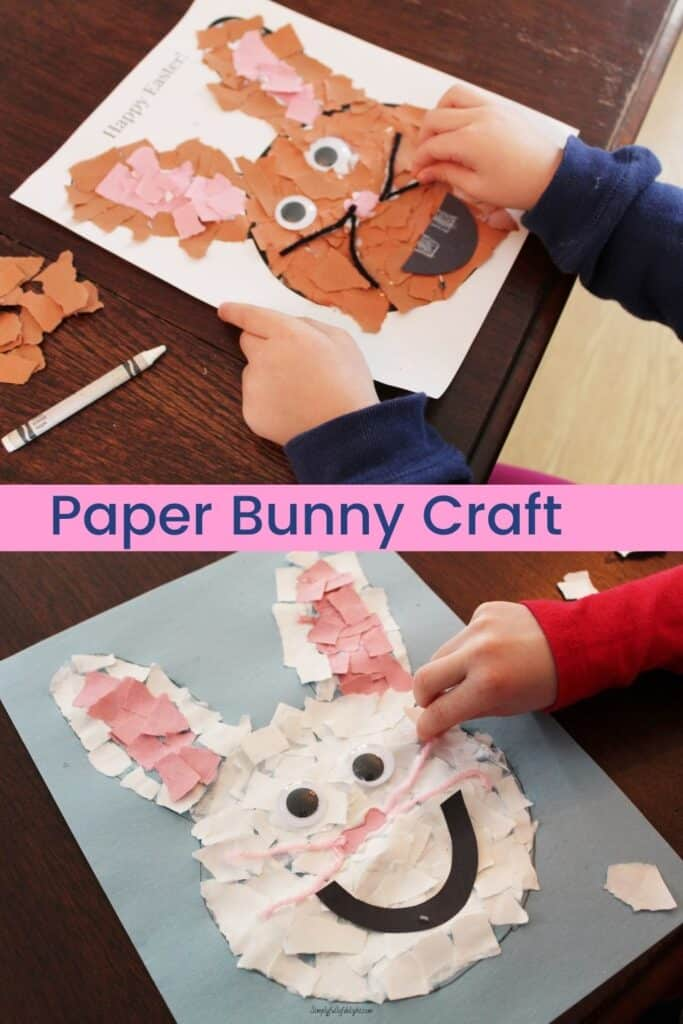 Paper Bunny Craft - finished bunny