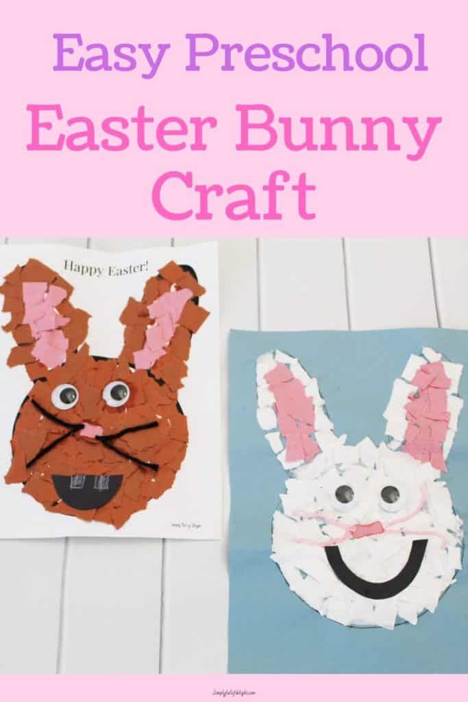 Easy Preschool Easter Bunny Craft