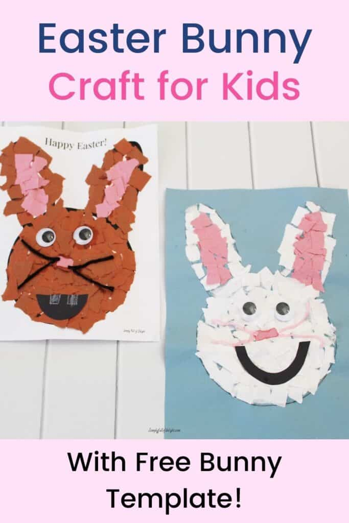 Easter Bunny Craft for Kids - with free bunny template