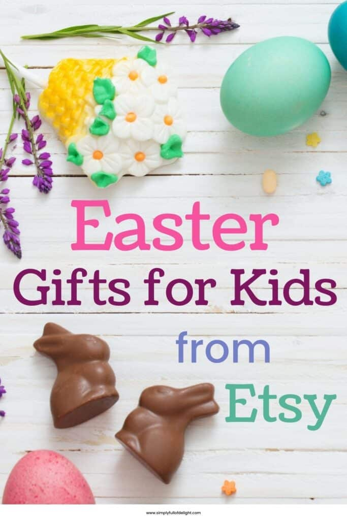 Unique Easter Gifts from Etsy in 2021 - Find the perfect Easter basket fillers for your kids!  A gift guide of 23 of the best unique items that are sure to make them smile!  #easter #etsy #uniqueeastergifts #unique