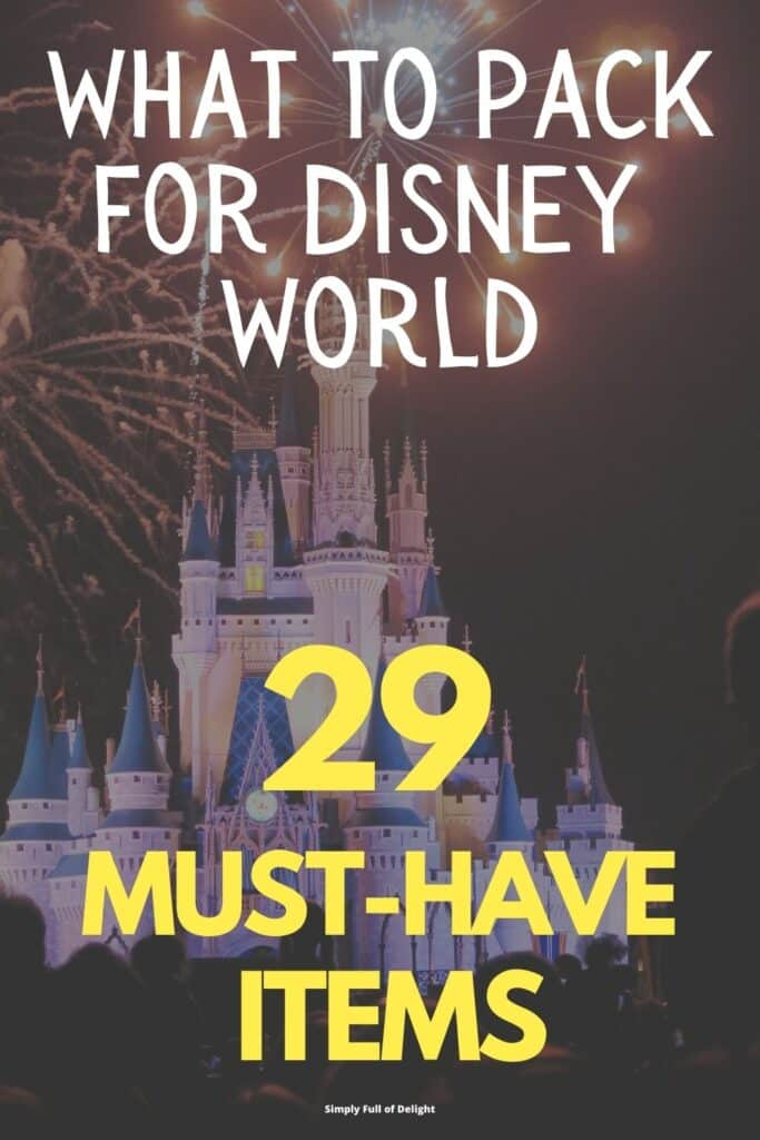 What to Pack for Disney World - 29 Items you NEED!  (no fluff)