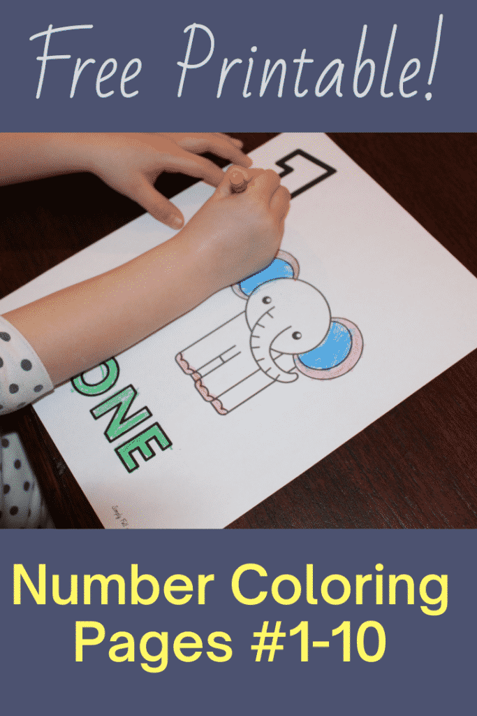 Free Printable Numbers Coloring pages for numbers 1-10